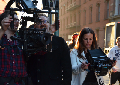 KMP Exec Producer Nomi Roher leads the team, day of shoot
