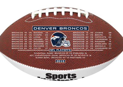 Super Bowl 50 premium collectible football