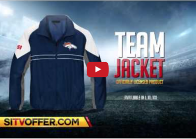 The official Broncos team jacket
